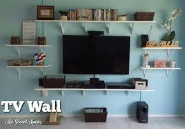 Shelves For Tv by Our Tv Wall Mrs Dessert Monster