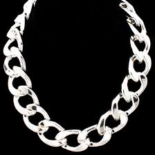 necklace chains silver images Celebrity inspired thick silver chain link necklace link chains jpg