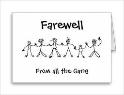 farewell card template 25 free printable word pdf psd eps