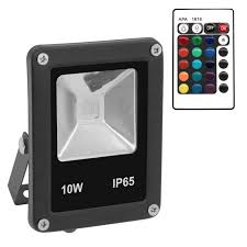 Outdoor Led Flood Lights by Waterproof 10w Rgb Outdoor Led Flood Lights W Controller Black