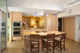 kitchen ideas with oak cabinets mix of wood and painted cabinets bulkhead light fixture