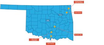 Okc Map Five Oklahoma Lakes On Bassmaster Magazine U0027s Top 100 Oklahoma Now