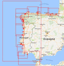 Portugal Spain Map by Spain North West And Portugal Avalon Router Offshore