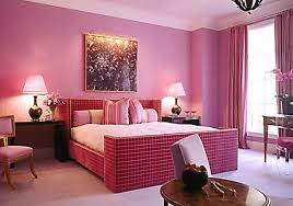 teenage room color schemes tufted headboard pink color