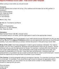 sample college professor cover letter cover letter for college