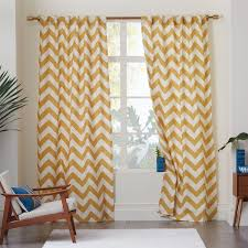 curtains west elm zigzag curtain inspiration cotton canvas zigzag
