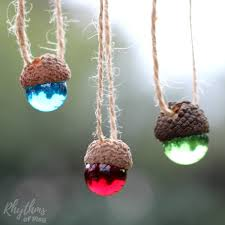 diy rustic acorn marble ornaments rhythms of play