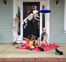 Skeleton Ideas For Halloween Halloween House Decorating Ideas The Baxter Skeletons Home