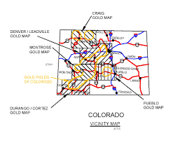 Craig Colorado Map by Colorado Gold Maps Colorado Gold Panning Maps Colorado Gold