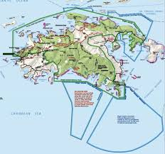 Map Of Caribbean Island by Virgin Islands Coral Reef National Monument Caribbean National