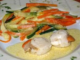 cuisiner noix de jacques surgel馥s noix de jacques aux petits légumes