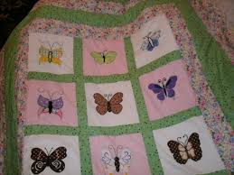 butterfly twin bed quilt