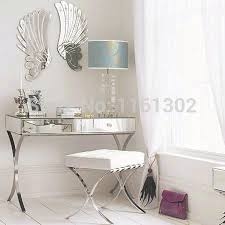 Mirrored Vanity Table with Mr 401005 Modern Mirrored Vanity Set With Stainless Steel Legs In