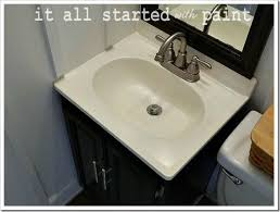 How To Paint A Vanity Top Best 25 Painting Bathroom Sinks Ideas On Pinterest Painted