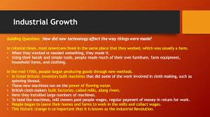 a growing economy essential question how does geography influence