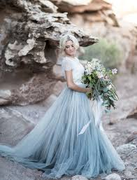 blue wedding dresses blue tulle wedding gown green wedding shoes