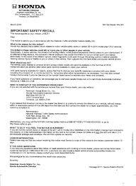 american honda motor co inc honda cr z takata airbag recall page 26 honda crz forum honda