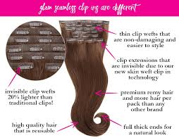 clip extensions brown clip in hair extensions glam seamless
