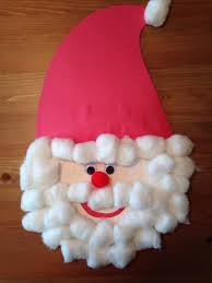 paper plate santa claus craft christmas craft preschool craft