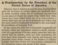 thanksgiving proclamation 1863 the gilder lehrman institute of