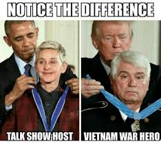 notice the difference talk show host vietnam war hero meme on me me