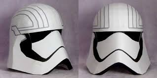 star wars life size captain phasma helmet papercraft free
