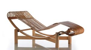 contemporary sun lounger wooden by charlotte perriand 522
