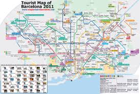 Metro La Map Metro Map Of Barcelona With Sightseeings