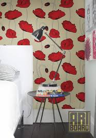 Best Curtains And Wallpaper Images On Pinterest Fabric - Poppy wallpaper home interior