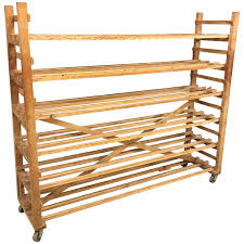 Bakers Rack Shelves Industrial Pine Wooden Baker U0027s Rack Belgium 1940 At 1stdibs