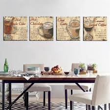 canvas painting english letter print cuadros decoration milk tea