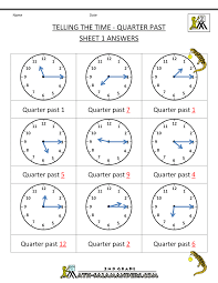 time worksheet o u0027clock quarter and missing angles in triangles