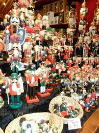 Wooden Toy Christmas Tree Decorations - vwcampervan aldridge display of german made christmas wooden toys