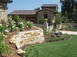 Tuscan Backyard Landscaping Ideas Nice Backyard Retaining Wall Designs For Your Home Design Styles