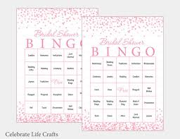 wedding words for bingo 100 bridal bingo cards pink bridal shower bingo
