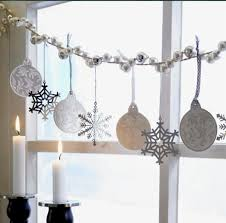 christmas window decorations christmas window decorations garland ornaments snow flakes