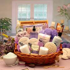gift baskets the essence of lavender spa gift basket