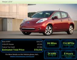 nissan leaf electric car price connecticut starts 3 000 electric vehicle rebate program