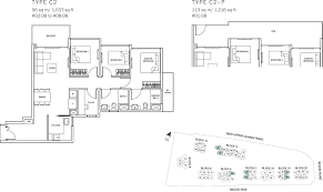 sq ft to sq m the glades condo floor plan u2013 3br suite u2013 c2 u2013 96 sqm 1033 sqft