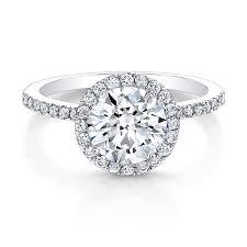 white gold halo engagement rings 18k white gold band halo engagemen