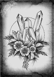image result for flower and crystal tattoo tattoos pinterest