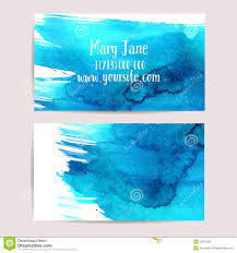 creative business card template with watercolor stock vector