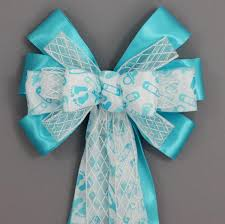 blue baby shower baby shower bows package bows
