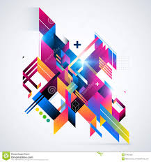 Futuristic Design Abstract Geometric Element With Colorful Gradients And Glowing