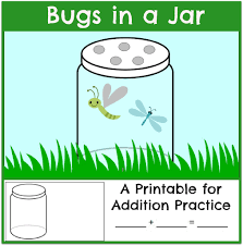 fun addition practice bugs in a jar the measured mom
