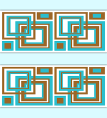 geometric wallpaper border turquoise brown square wall art