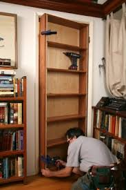 hidden pivot bookcase installation thisiscarpentry