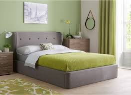 Ottoman Beds For Sale Upholstered In A Grey Woven Fabric This Sleek Ottoman Bed Is A