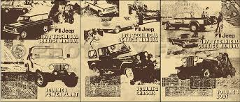 jeep repair manual 1978 jeep repair shop manual reprint all models 3 volume set