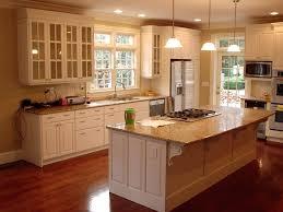 kitchen cabinet cream wallcream cabinets with black island blue